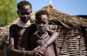 カロ族,少数民族,エチオピア,karo