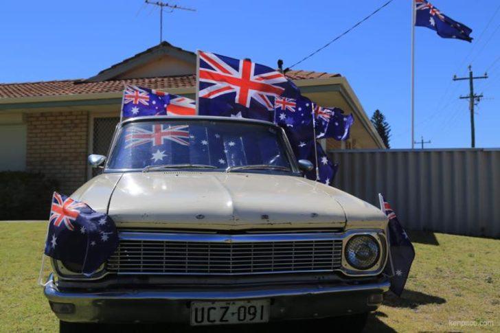 Australia,オーストラリア,オーストラリアデー,国旗,車,